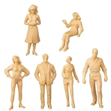 1/24 Scale Six Assorted Figures