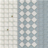 Blue & Off-White Tile & Trim
