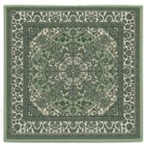 Jade and Ivory Aladdin Square Rug