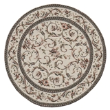 Rose Filigree Black Round Rug