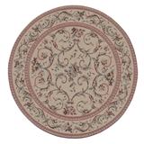 Rose Filigree Red Round Rug