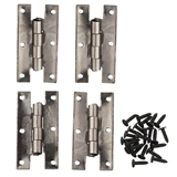 Set of Four Gunmetal H Hinges with Nails