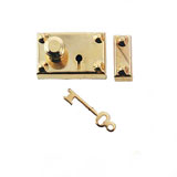 Brass Americana Lock w/Key by Houseworks