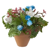 POTTED RED, WHITE AND BLUE ARRANGEMENT