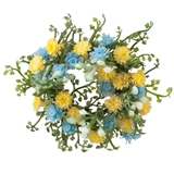 Yellow and Blue Fantasy Wreath