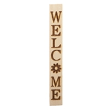 Welcome Porch Sign with Flower
