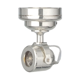 Silver Battery-Operated Spotlight
