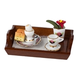 Black Rose Breakfast Tray by RP