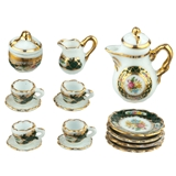 11-Pc. Irish Rose Coffee Set from Reutter Porzellan
