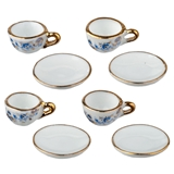 8-Pc. Set of Blue Onion Cups and Saucers by Reutter Porzellan