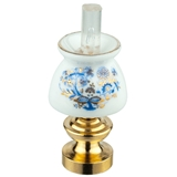 Blue Onion Non-Working Oil Lamp from Reutter Porzellan