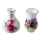 2-Pc. Large Floral Vase Set by Reutter Porzellan