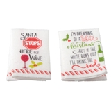 Christmas Wine Tea Towels Kit