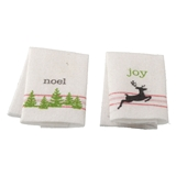 "Christmas ""Noel"" and ""Joy"" Tea Towels Kit"