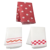Retro Red Tea Towels Kit