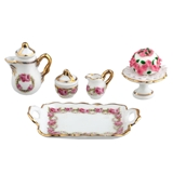 5-Pc. English Rose Coffee and Dessert
