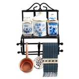 Accessorized Kitchen Hanging Rack