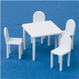 1/4 inch Scale Five Piece Table and Chair Set