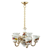 Flower Garland 5-Arm Non-Working Chandelier from Reutter Porzellan