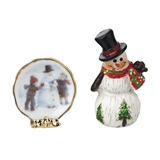 2-Pc. Christmas Plate & Snowman