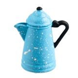 Light Blue Spatterware Coffee Pot