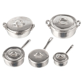 10-Pc. Stainless Steel Pots and Pans Set