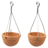 Two Empty Hanging Planters