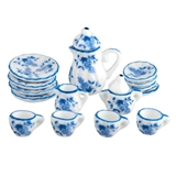 17-Pc. Traditional Fleur Blue Table Setting