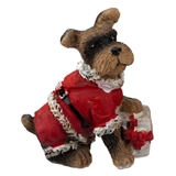 Mini Schnauzer in Santa Suit