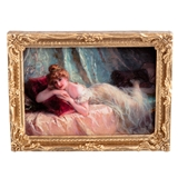 Lounging Girl Framed Print