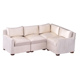 Strié Satin Sectional Sofa