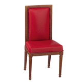 Regency Red Leather Side Chair