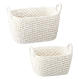 Pair of White Baskets