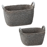 Pair of Grey Baskets