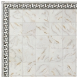 Alabaster Faux Marble Flooring Sheet with Border
