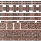 Ornamental Embossed Dark Brick Accessory Sheet