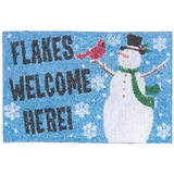 """Flakes Welcome Here"" Mat"
