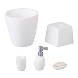 5-Pc. White Bath Accessory Set