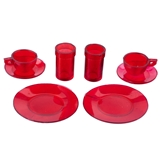 Red Place Setting for Two