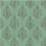 Soft Blue Damask Wallpaper