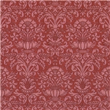 Red Annabell Damask Wallpaper