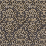 Black Annabelle Damask Wallpaper