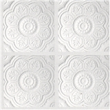 WHITE MEDALLION PANEL PAPER/1 SHEET