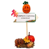 """Pumpkin Carving Contest"" Signpost"