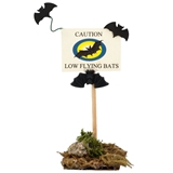"""Low Flying Bats"" Signpost"