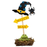 """Witch Way"" Signpost"