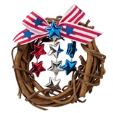 Spangled Star Wreath