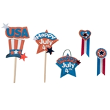 5-Pc. 4th of July Sign Set