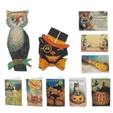10-Pc. Vintage Halloween Card and Sign Set