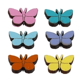 6 COLORFUL BUTTERFLIES
